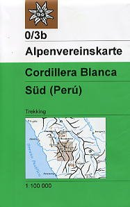9780096874570: Cordillera Blanca South (Peru) 1:100,000 Trekking Map