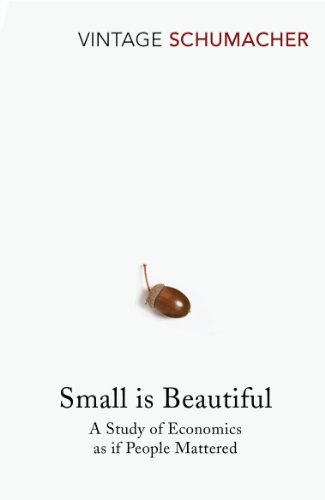 Small Is Beautiful 9780099225614 Small Is Beautiful: A Study of Economics As If People Mattered is a collection of essays by British economist E. F. Schumacher. The phrase  Small Is Beautiful  came from a phrase by his teacher Leopold Kohr