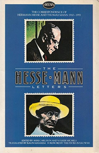9780099381808: Hesse/Mann Letters: Correspondence, 1910-55