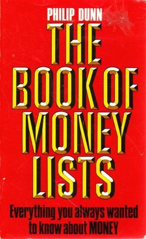 9780099409106: The Book Of Money Lists
