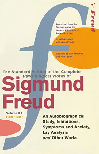 "9780099426752: Complete Psychological Works Of Sigmund Freud, The Vol 20: ""An Autobiographical Study"", ""Inhibitions"", ""Symptoms and Anxiety"", ""Lay Analysis"" and Other Works v. 20"