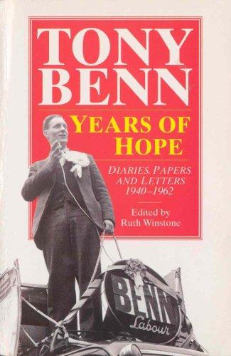 9780099497714: Years of Hope