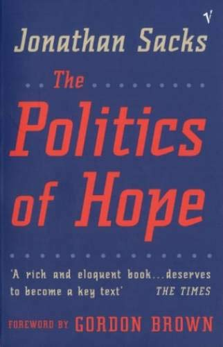 Politics of Hope (0099765411) by Jonathan Sacks