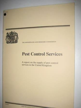 Pest control Services, a Report on the Supply of Pest Control Services in the United Kingdom: ...