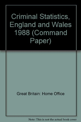9780101084727: Criminal Statistics, England and Wales (Command Paper)
