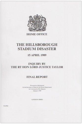 9780101096225: The Hillsborough Stadium Disaster: Inquiry Final Report (Command Paper)