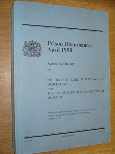 9780101145626: Prison Disturbances, April 1990: Inquiry (Command Paper)