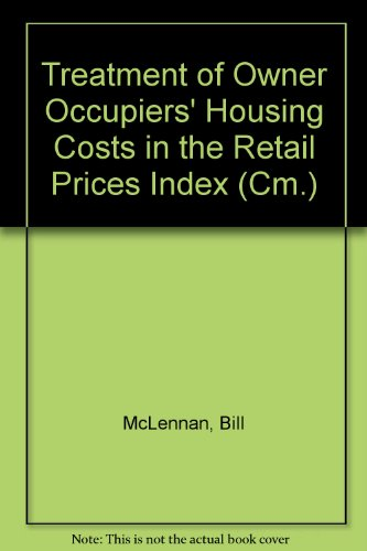 9780101271721: Treatment of Owner Occupiers' Housing Costs in the Retail Prices Index (Cm.)