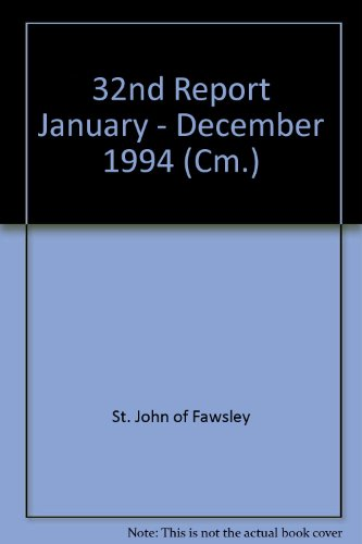 9780101288620: 32nd Report January - December 1994 (Cm.)