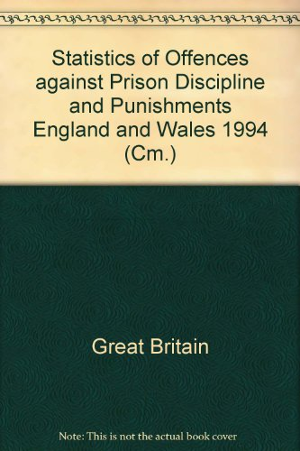 9780101293426: Statistics of Offences against Prison Discipline and Punishments England and Wales 1994 (Cm.)