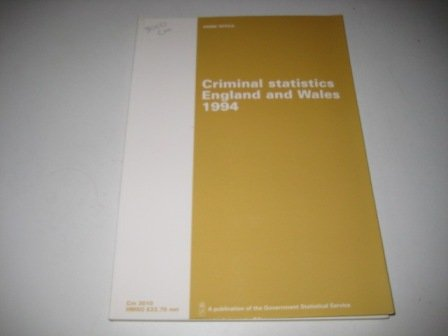 9780101301022: 'CRIMINAL STATISTICS, ENGLAND AND WALES: STATISTICS RELATING TO CRIME AND CRIMINAL PROCEEDINGS FOR THE YEAR (COMMAND PAPER)'