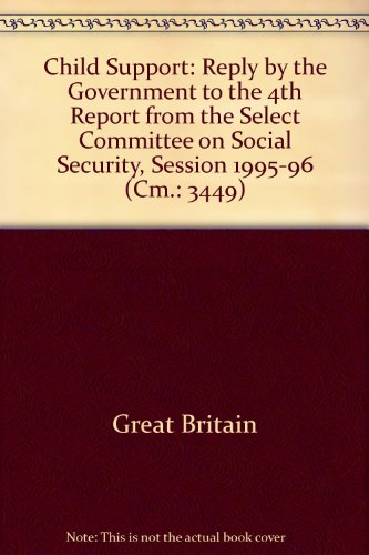 9780101344920: Child Support: Reply by the Government to the 4th Report from the Select Committee on Social Security, Session 1995-96 (Cm.: 3449)