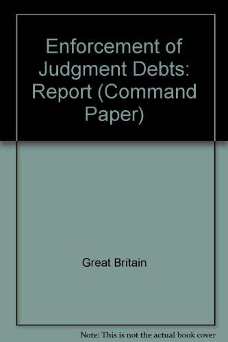 9780101390903: Enforcement of Judgment Debts: Report (Command Paper)