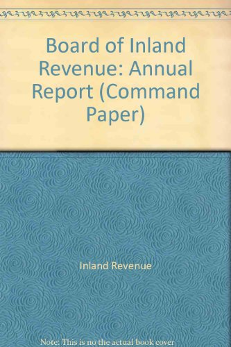 9780101530422: Board of Inland Revenue 2000-2001: Annual Report (Command Paper)