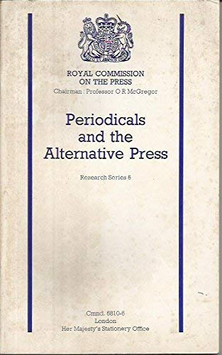 9780101681063: Periodicals and the Alternative Press (Command 6810-6)