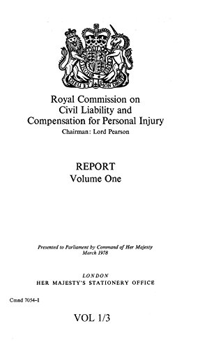 9780101705400: Royal Commission on Civil Liability and Compensation for Personal Injury: Report v. 1 (Command 7054-I)