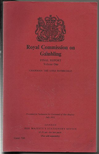 9780101720007: Royal Commission on Gambling. Final report. Volumes One & Two