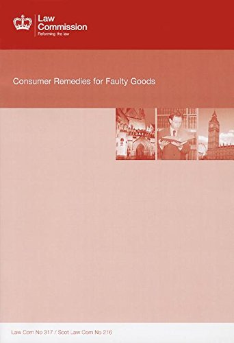 9780101772525: Consumer Remedies for Faulty Goods: Law Commission Report 317 (Law Commission Reports)