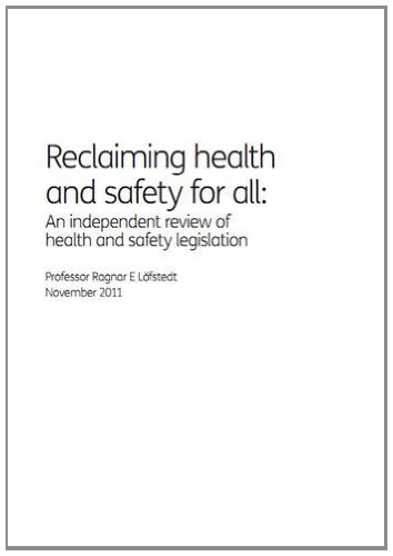 9780101821926: Reclaiming Health and Safety for All: An Independent Review of Health and Safety Legislation (Cm.)