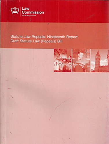9780101833028: Statute Law Repeals: Nineteenth Report Draft Statute Law (Repeals) Bill: Scottish Law Commission #227