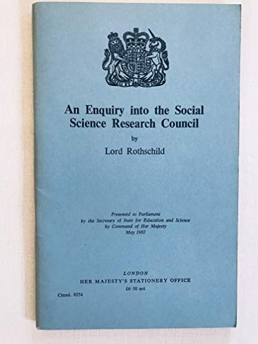 9780101855402: An Enquiry into the Social Science Research Council