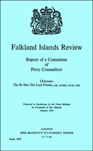 9780101878708: Falkland Islands Review: Report of a Committee of Privy Counsellors. Chmn.Lord Franks (Command 8787)