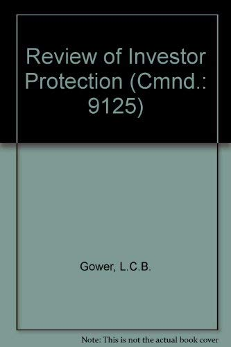 9780101912501: Review of Investor Protection (Cmnd.: 9125)