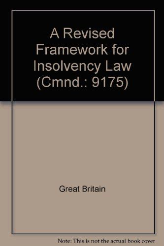 9780101917506: A Revised Framework for Insolvency Law (Cmnd.: 9175)
