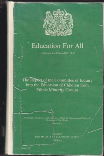 9780101945301: Education for All: The Report of the Committee of Inquiry into the Education of Children from Ethnic Minority Groups (Cmnd.)