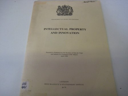 9780101971201: Intellectual Property and Innovation (Command 9712)