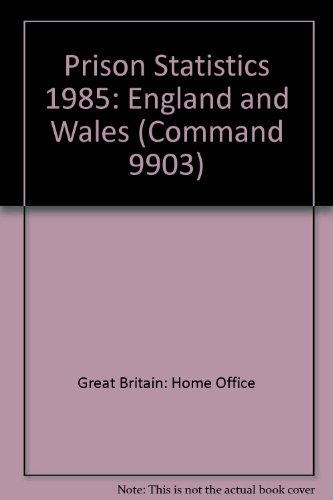 9780101990301: Prison Statistics: England and Wales (Command 9903)