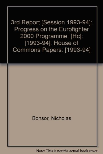 9780102222944: 3rd Report [Session 1993-94]: Progress on the Eurofighter 2000 Programme: [Hc]: [1993-94]: House of Commons Papers: [1993-94]