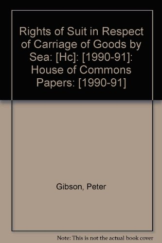 Rights of Suit in Respect of Carriage: Davidson, Charles Kemp,