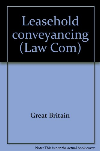 9780102360875: Leasehold conveyancing (Law Com)