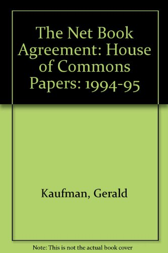 9780102383959: The Net Book Agreement: House of Commons Papers: 1994-95