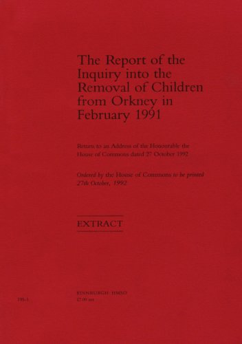 9780102768930: Report of the Inquiry Into the Removal of Children from Orkney in February