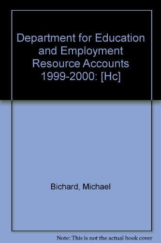 9780102882018: Department for Education and Employment Resource Accounts 1999-2000: [Hc]
