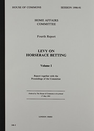 9780102885910: 4th Report [Session 1990-91]: Levy on Horserace Betting: [Hc]: [1990-91]: House of Commons Papers: [1990-91]