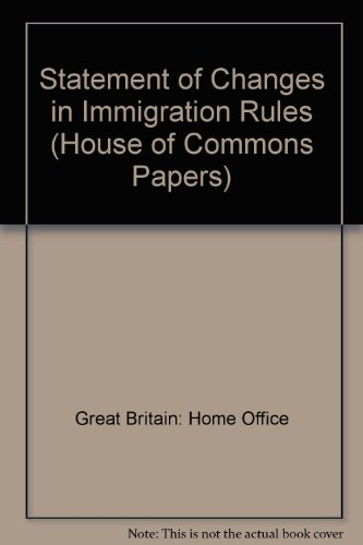 9780102958775: Statement of Changes in Immigration Rules (House of Commons Papers)