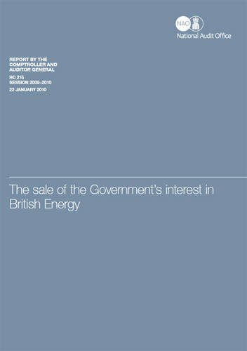 9780102963434: The sale of the government's interest in British Energy (House of Commons papers)