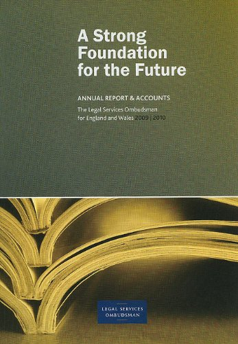 Annual Report of the Legal Services Ombudsman 2009/2010: Stationery Office (Great Britain)