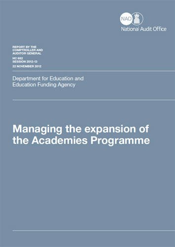 9780102980479: Managing the Expansion of the Academies Programme: Department for Education and Education Funding Agency (House of Commons Papers)