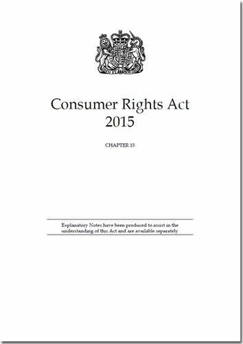 9780105400042: Consumer Rights Act 2015: Chapter 15