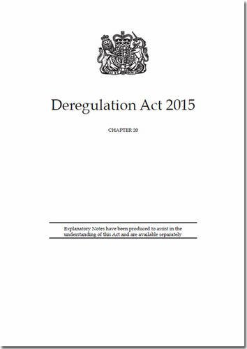 9780105400097: Deregulation Act 2015: Chapter 20