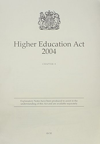9780105408048 - Higher Education Act 2004: Chapter 8 by Stationery ...