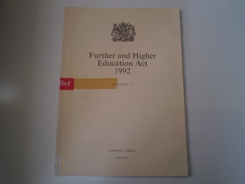 9780105413929: Further and Higher Education Act, 1992: Chapter 13