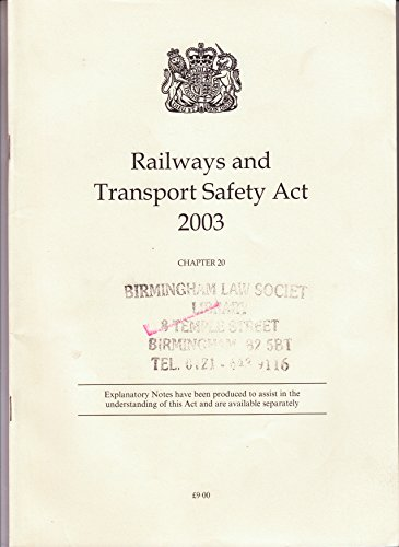 9780105420033: Railways and Transport Safety Act 2003 (Public General Acts - Elizabeth II)