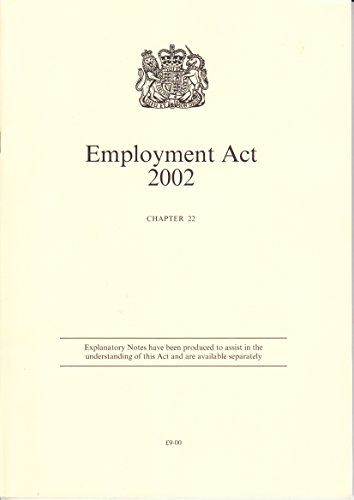 9780105422020: Employment Act 2002 (Public General Acts - Elizabeth II)