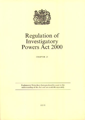 9780105423003: Regulation of Investigatory Powers Act 2000 (Public General Acts - Elizabeth II)