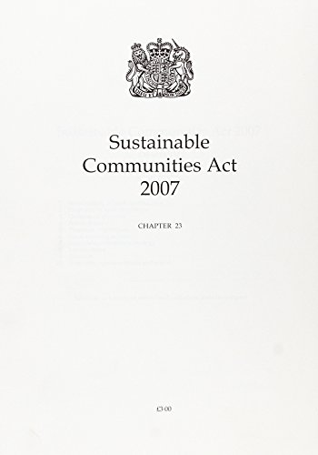 9780105423072: Sustainable Communities ACT 2007. (Public General Acts - Elizabeth II)